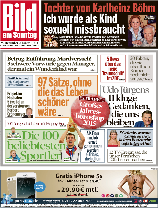 bild am sonntag 28 dezember 2014 free ebooks download. Black Bedroom Furniture Sets. Home Design Ideas