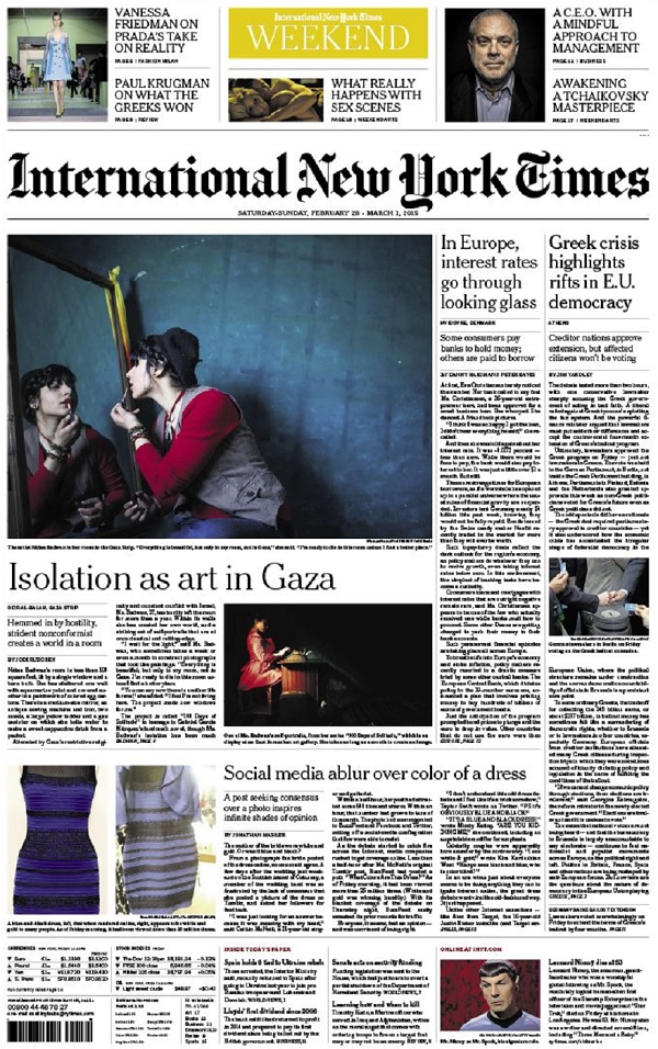 International New York Times - Saturday-Sunday, 28 February-1 March 2015