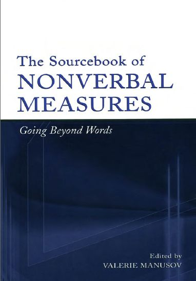 The Sourcebook of Nonverbal Measures: Going Beyond Words