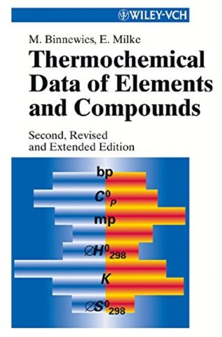 Thermochemical Data of Elements and Compounds (2nd edition)