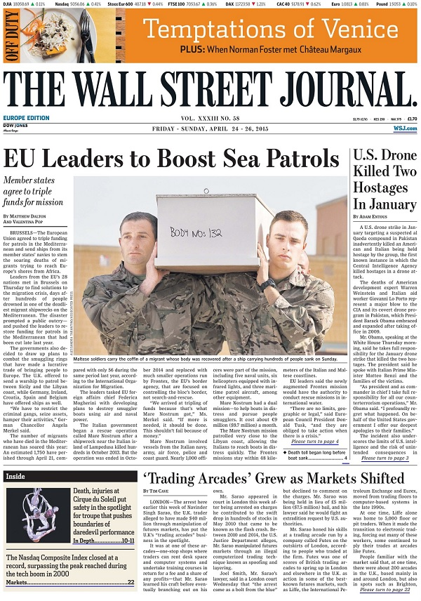 The Wall Street Journal Europe - Friday-Sunday, 24-26 April 2015
