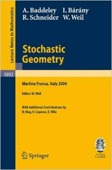 Stochastic Geometry by A. Baddeley