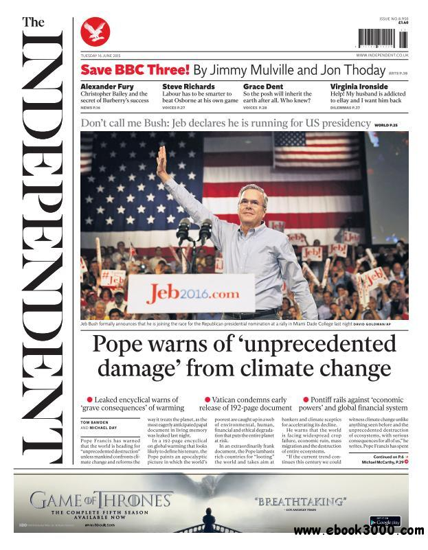 The Independent - 16 June 2015