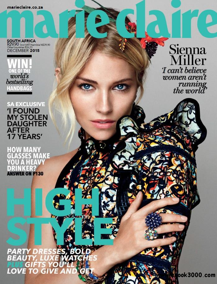 Marie Claire South Africa December 2015 Free Ebooks