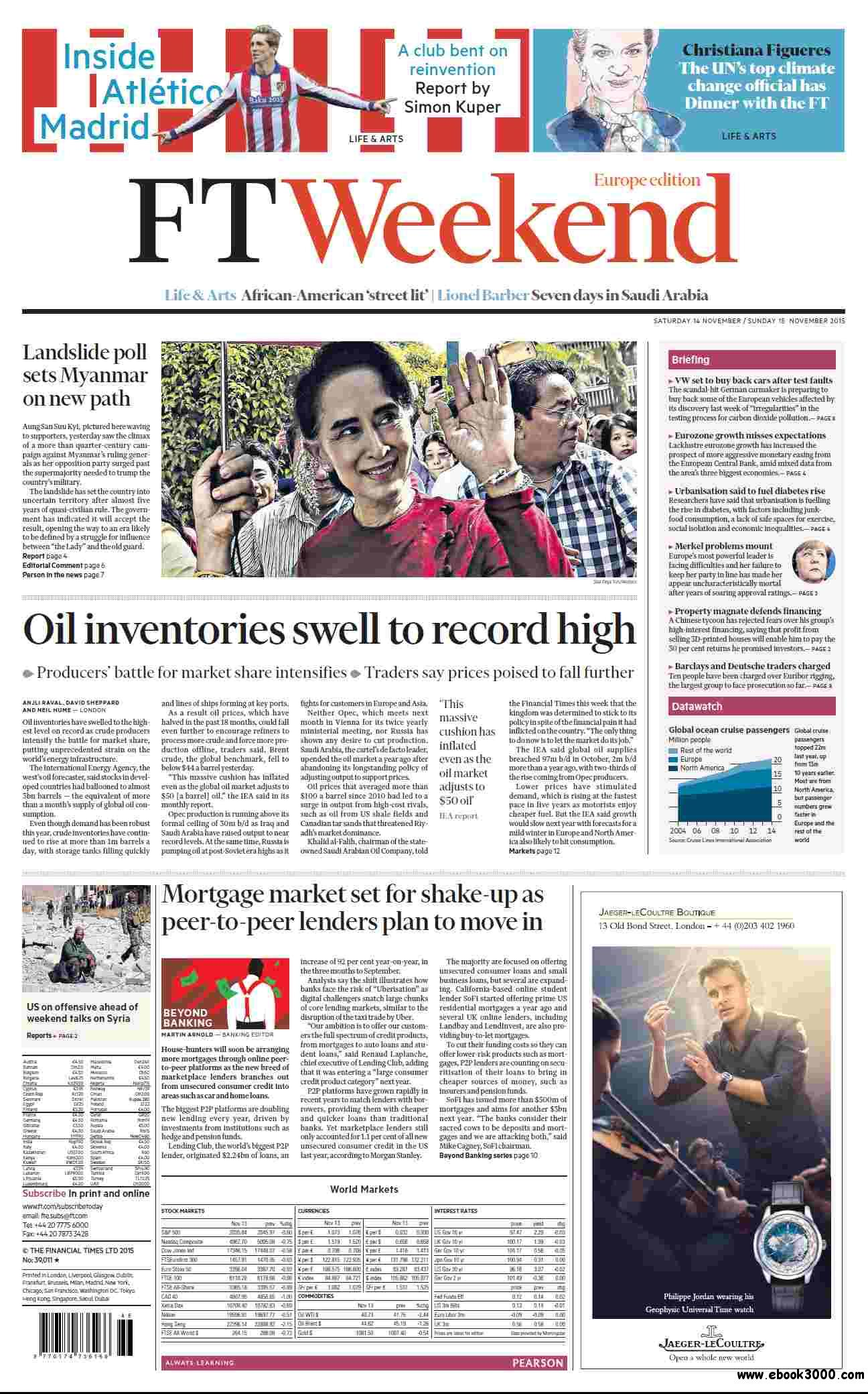 Financial times europe edition november 14 15 2015 free for Europe in november