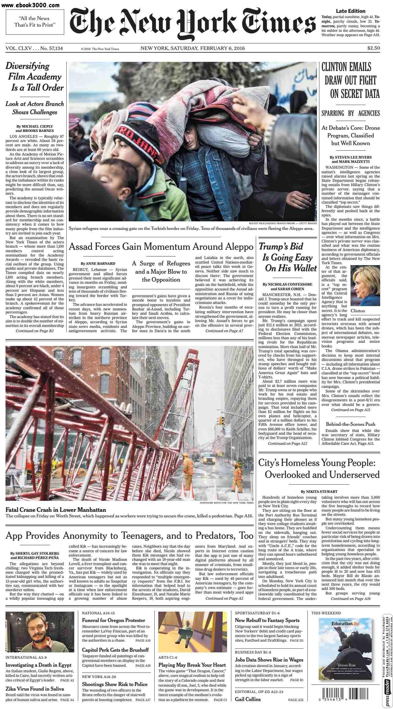 The New York Times  February 06 2016