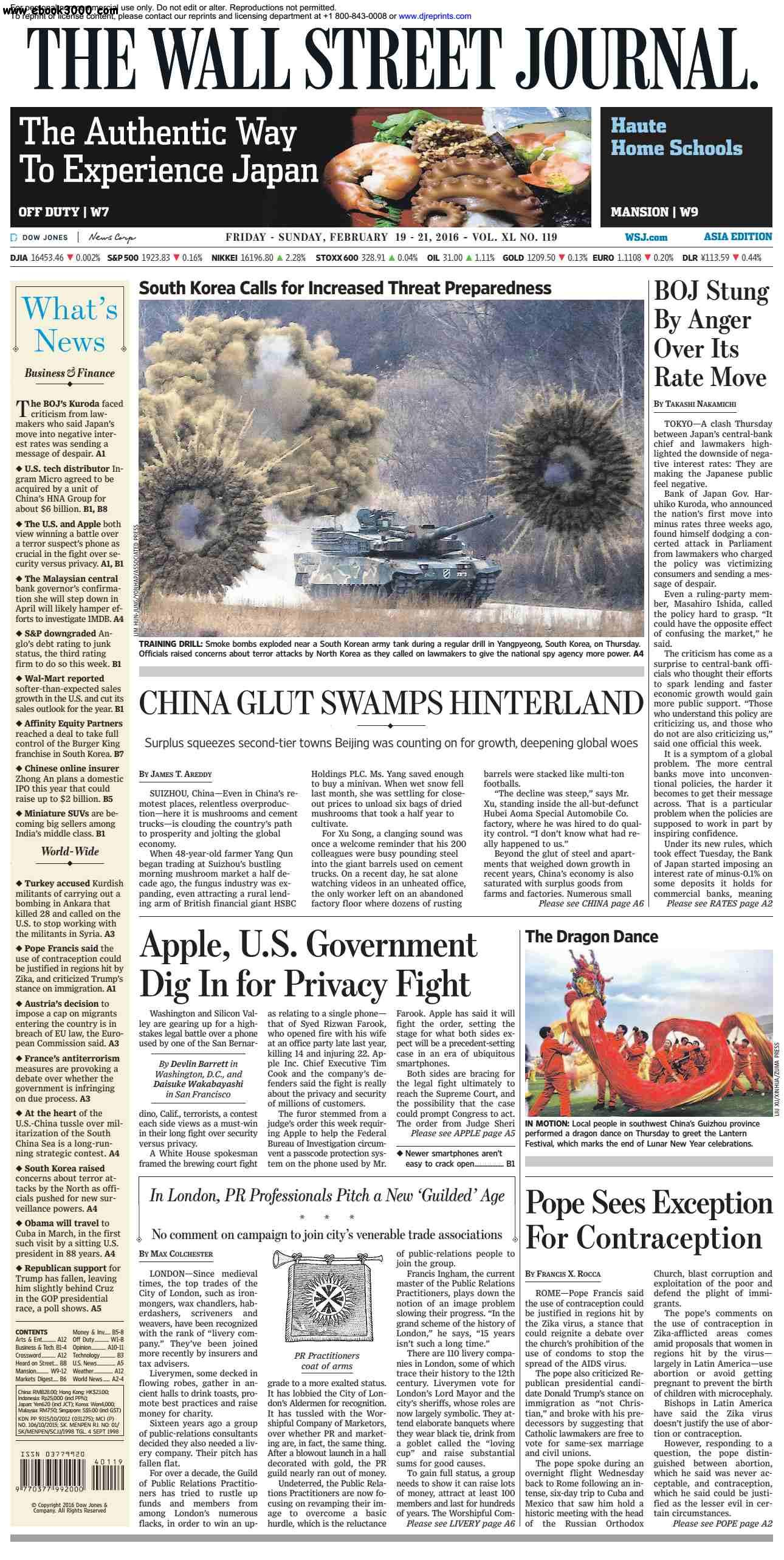 The Wall Street Journal Asia  February 19 2016