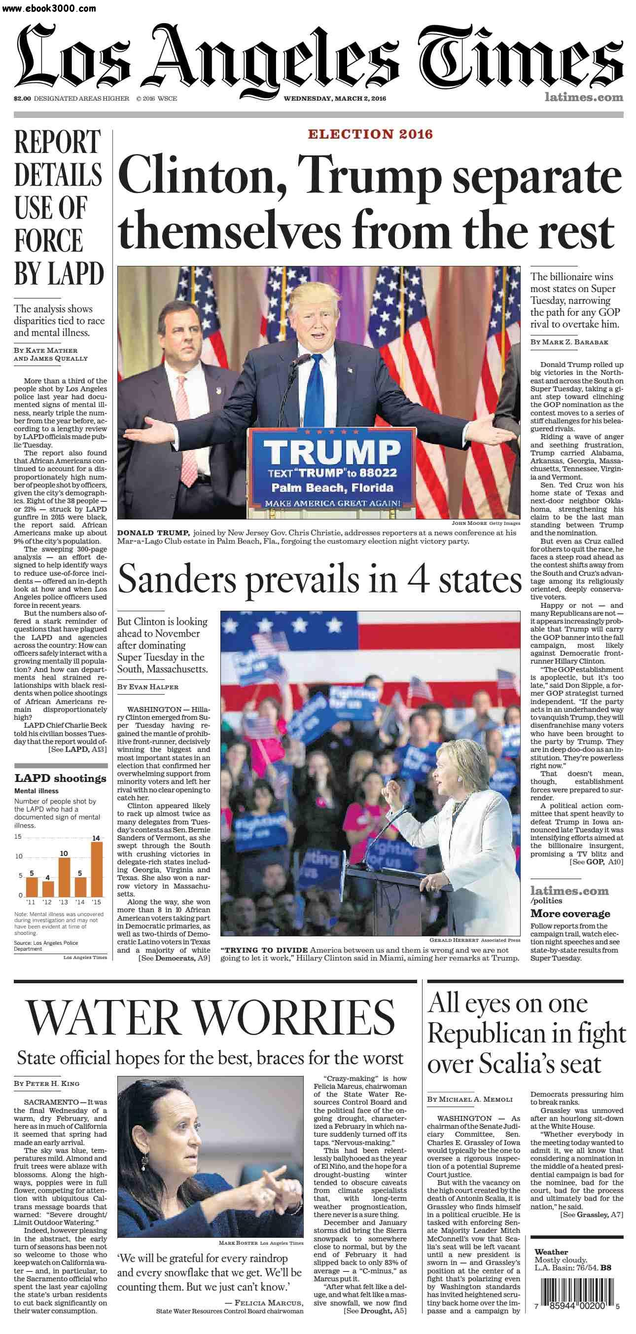 Los Angeles Times  March 02, 2016