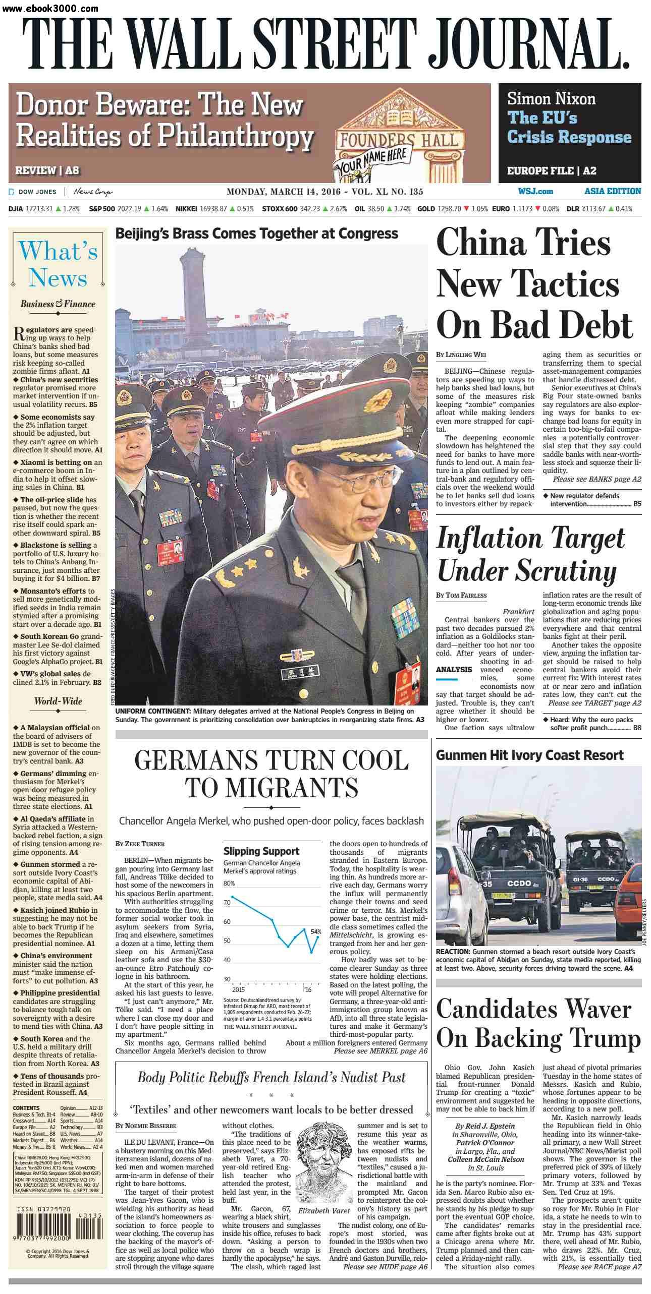 The Wall Street Journal Asia  March 14 2016