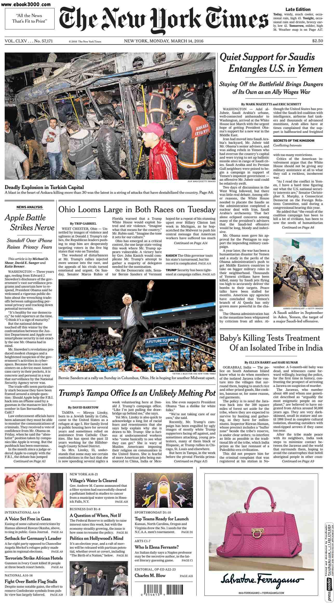 The New York Times  March 14 2016