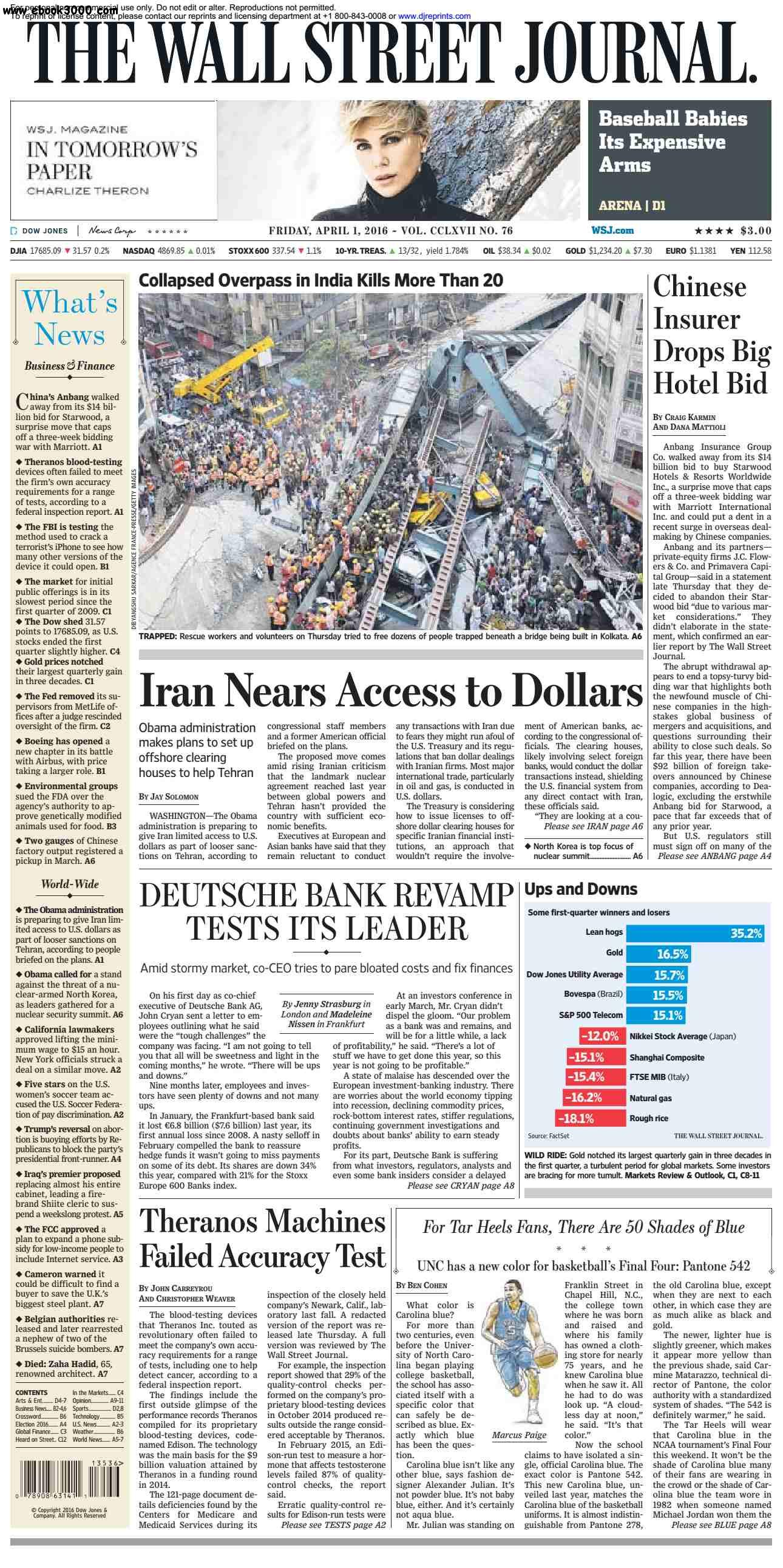 The Wall Street Journal  April 01 2016
