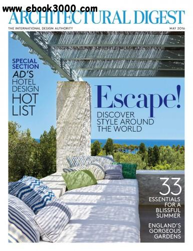 Architectural digest may 2016 free ebooks download for Free architectural magazines