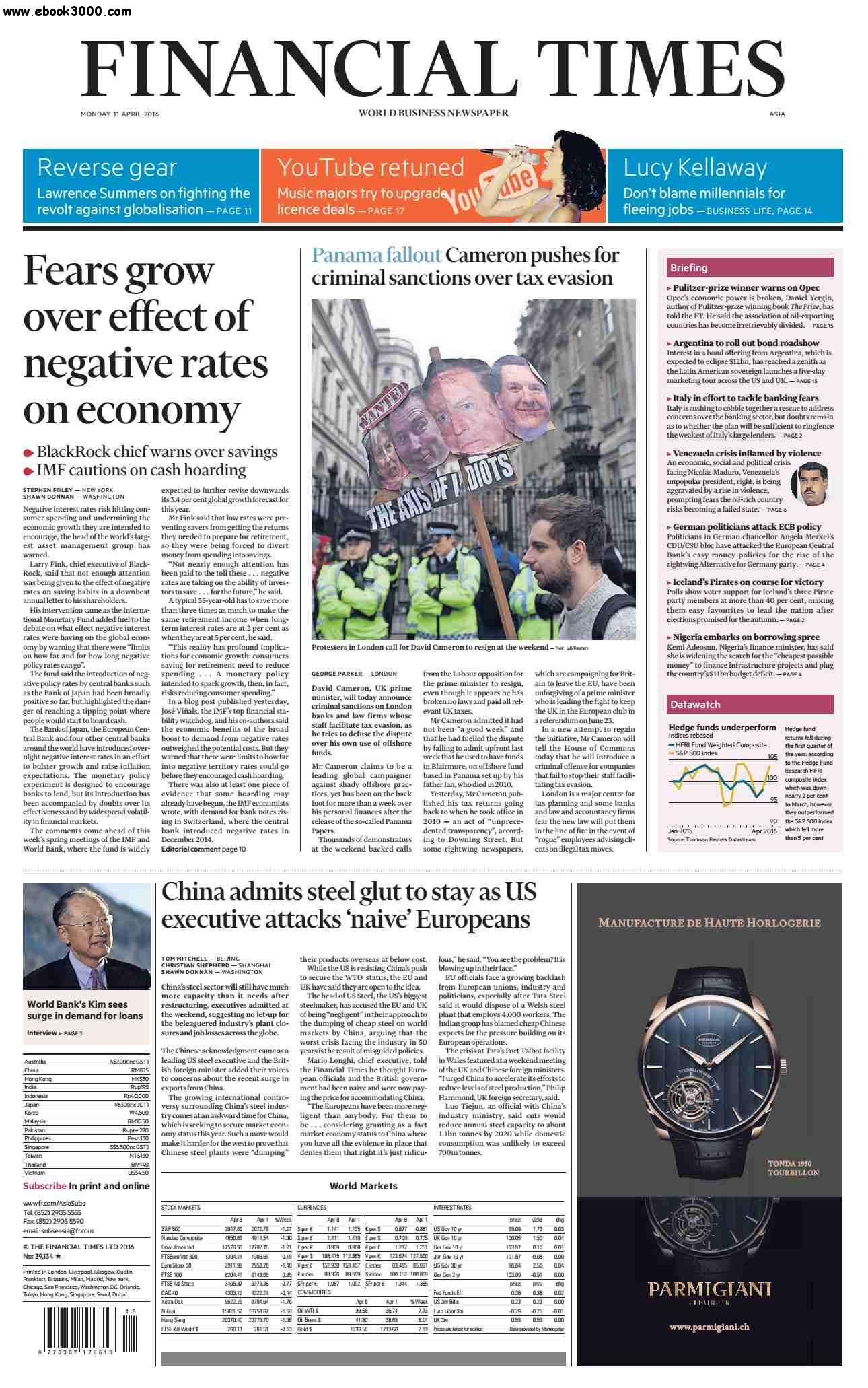 Financial Times Asia  April 11 2016
