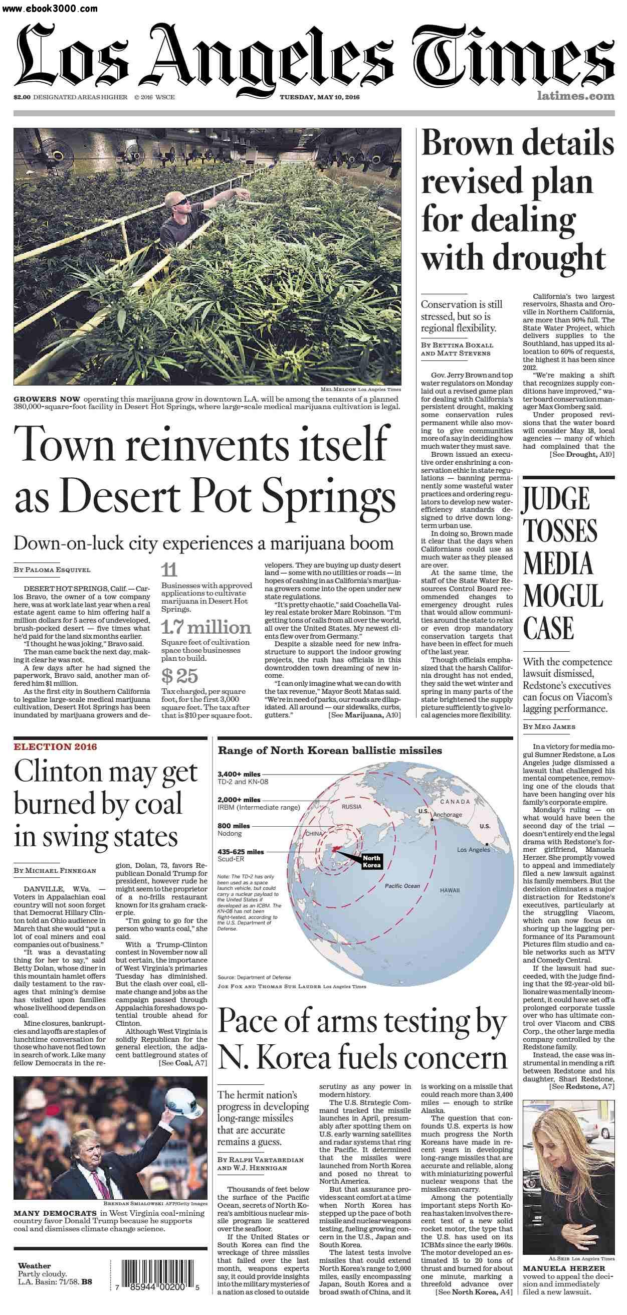 Los Angeles Times  May 10, 2016
