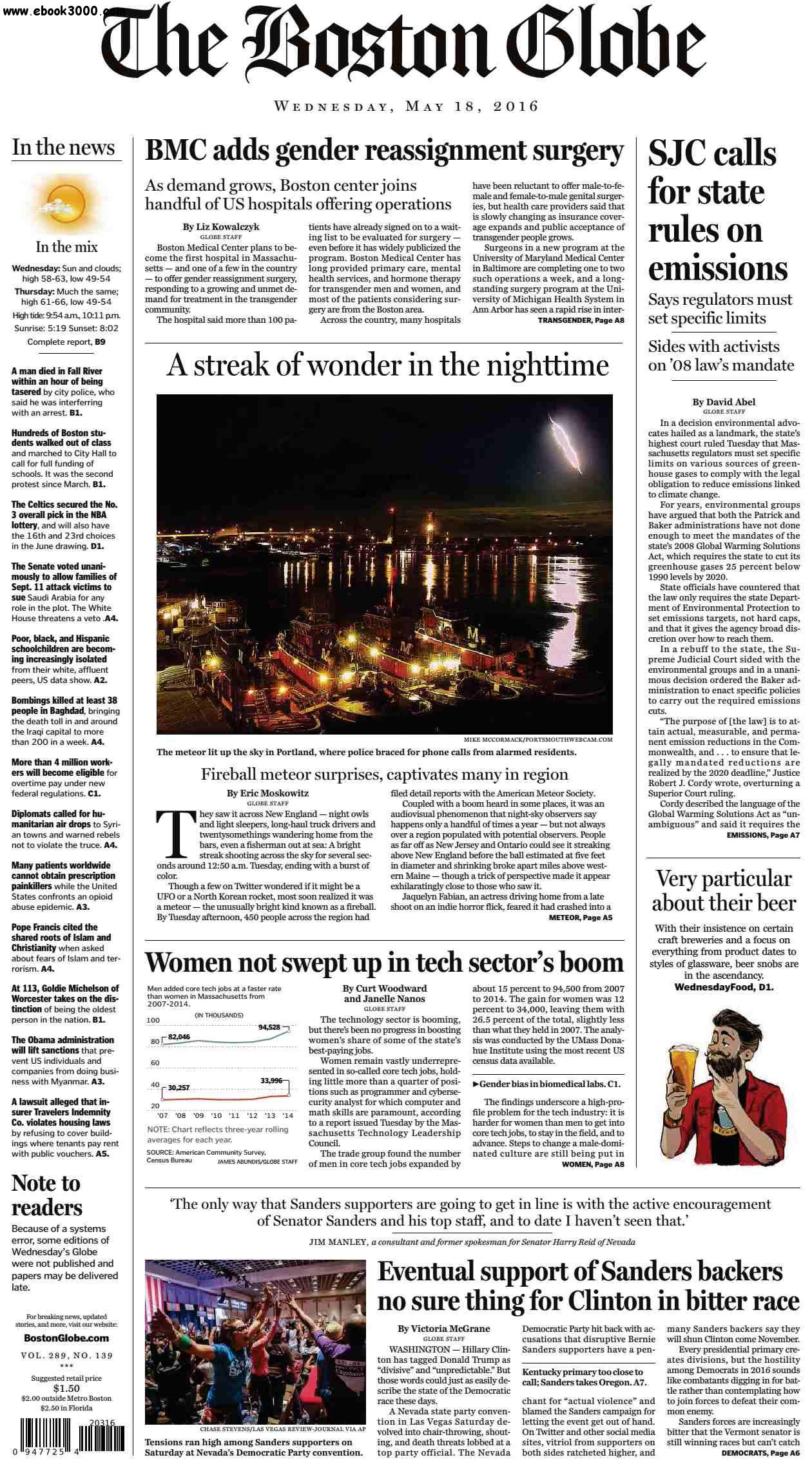 The Boston Globe  May 18 2016