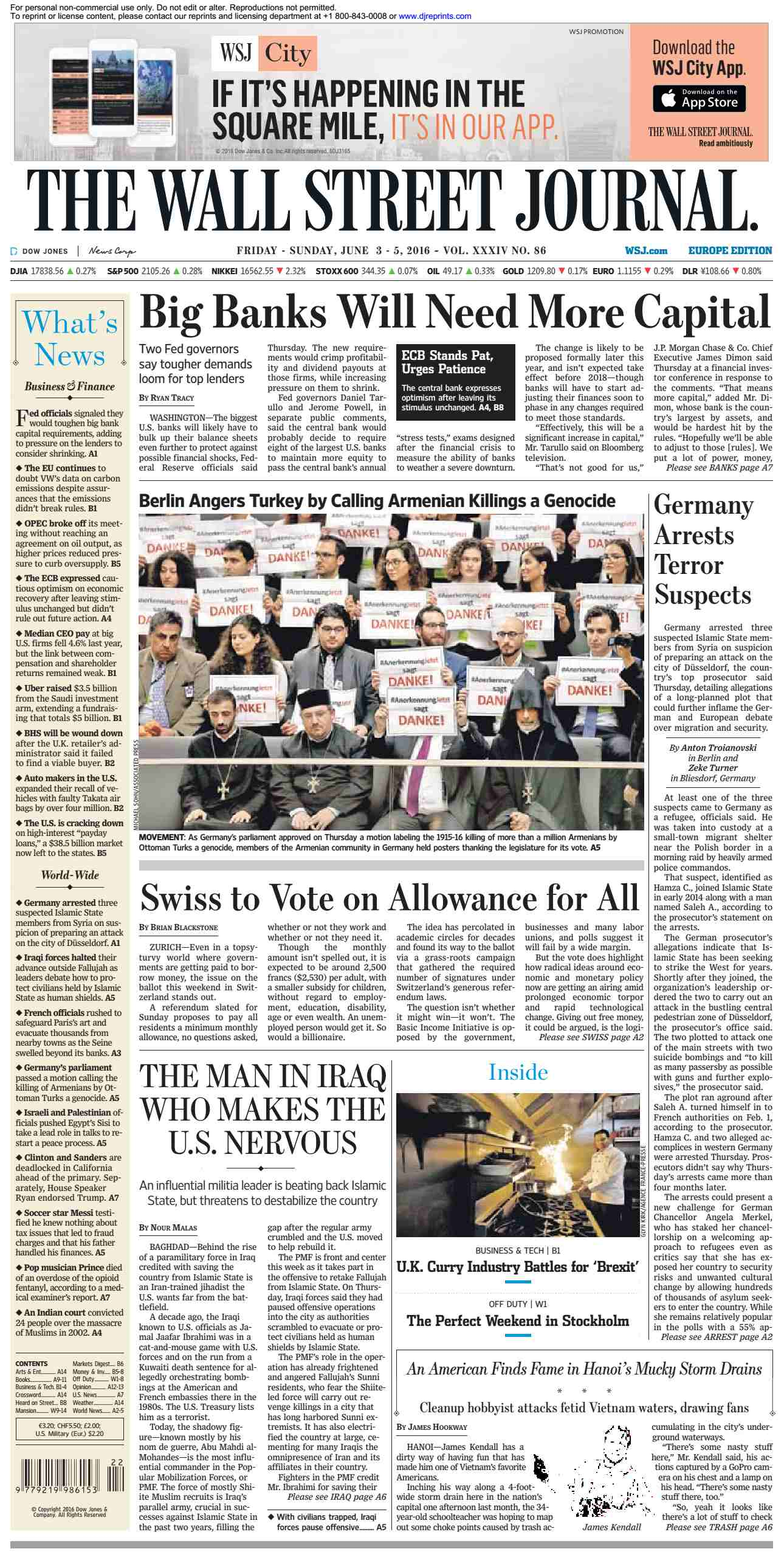 The Wall Street Journal Europe  June 03 2016