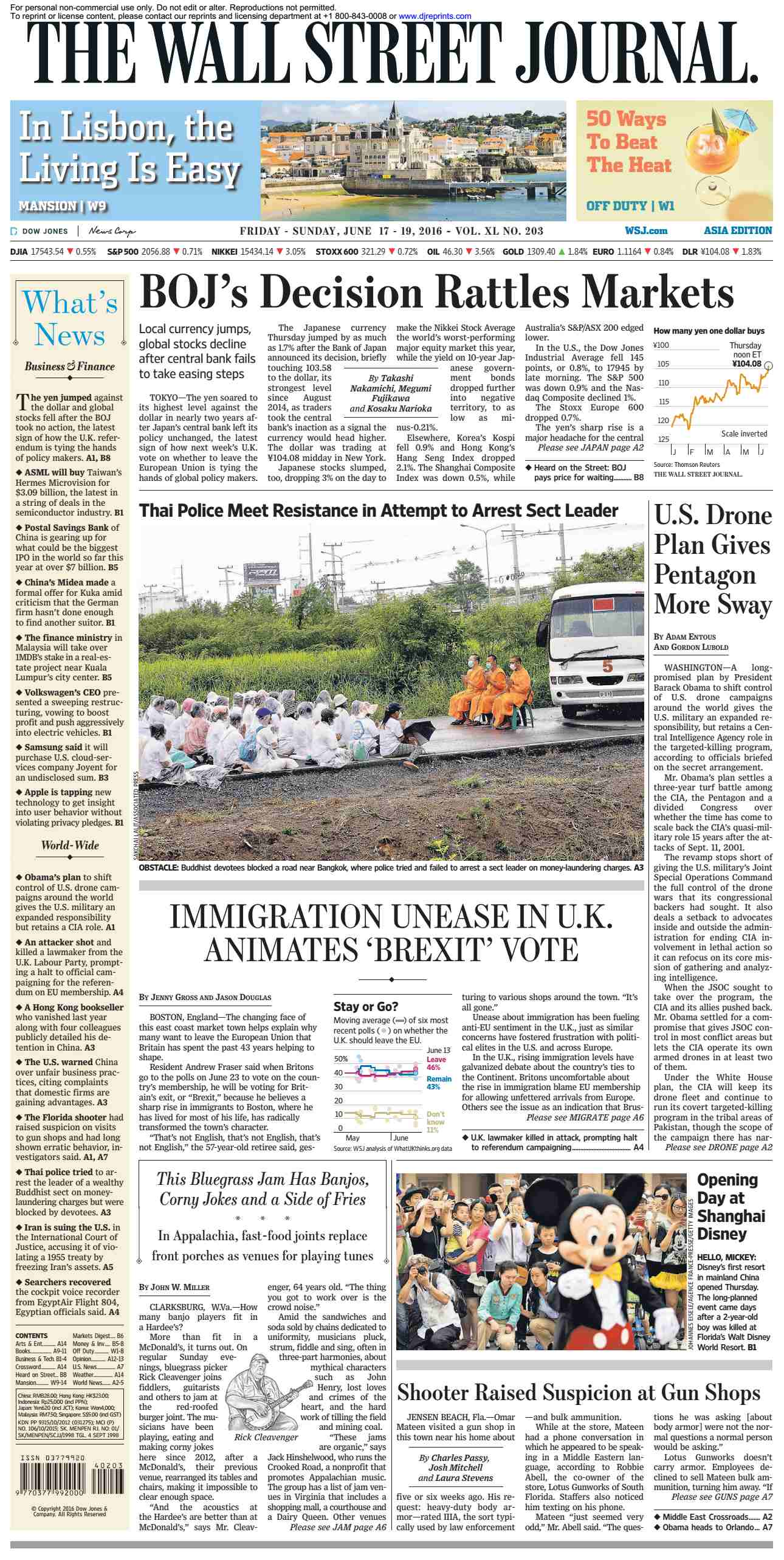 The Wall Street Journal Asia  June 17 2016