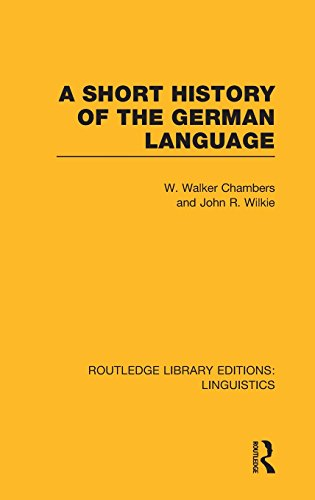 A Short History of the German Language