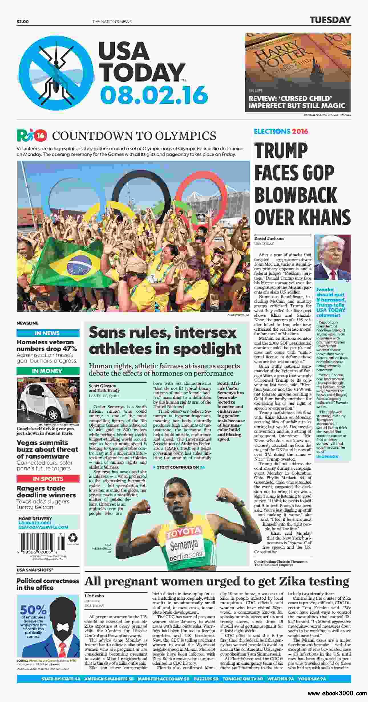 USA Today  August 02 2016