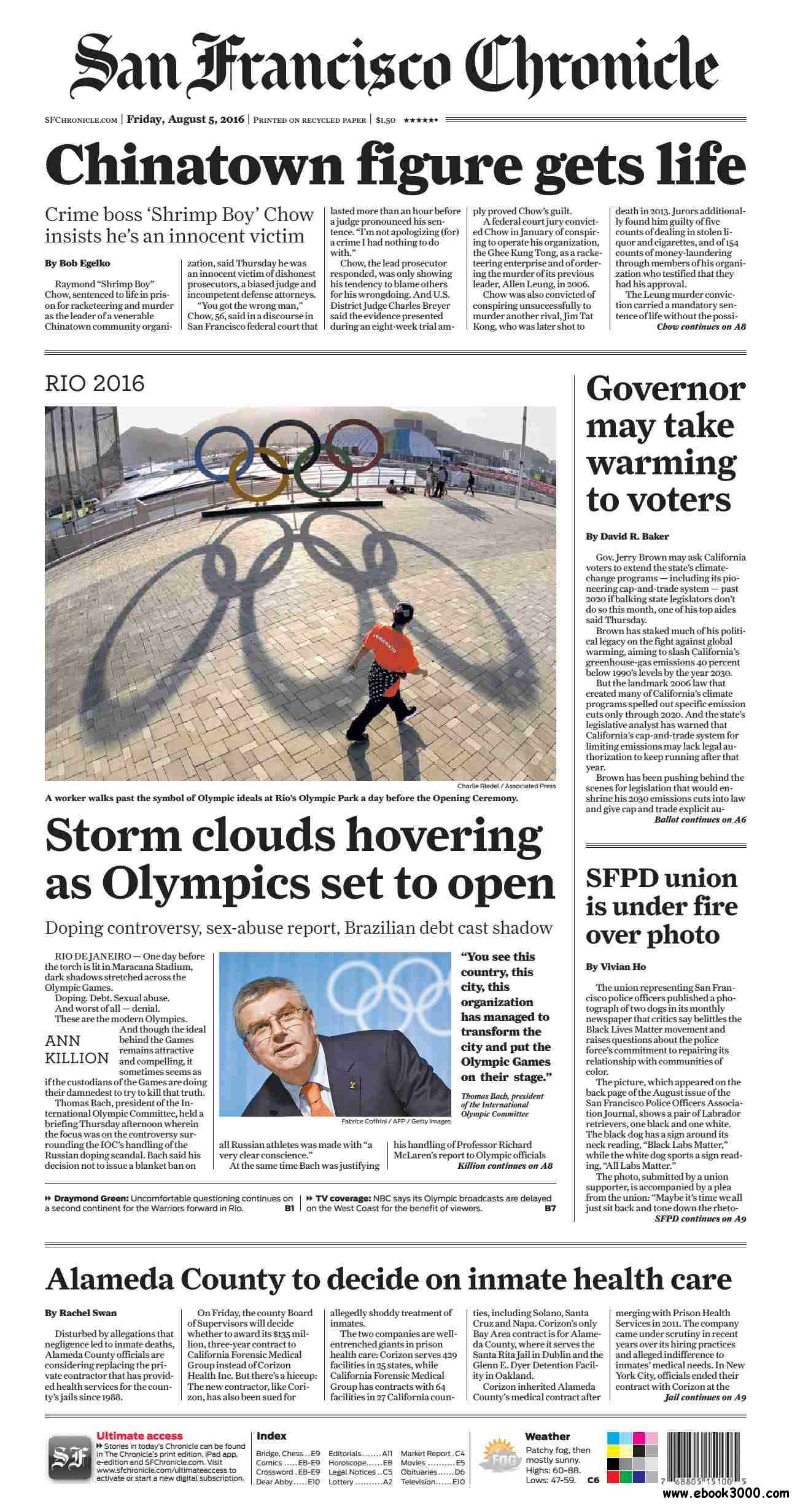 San Francisco Chronicle  August 05 2016