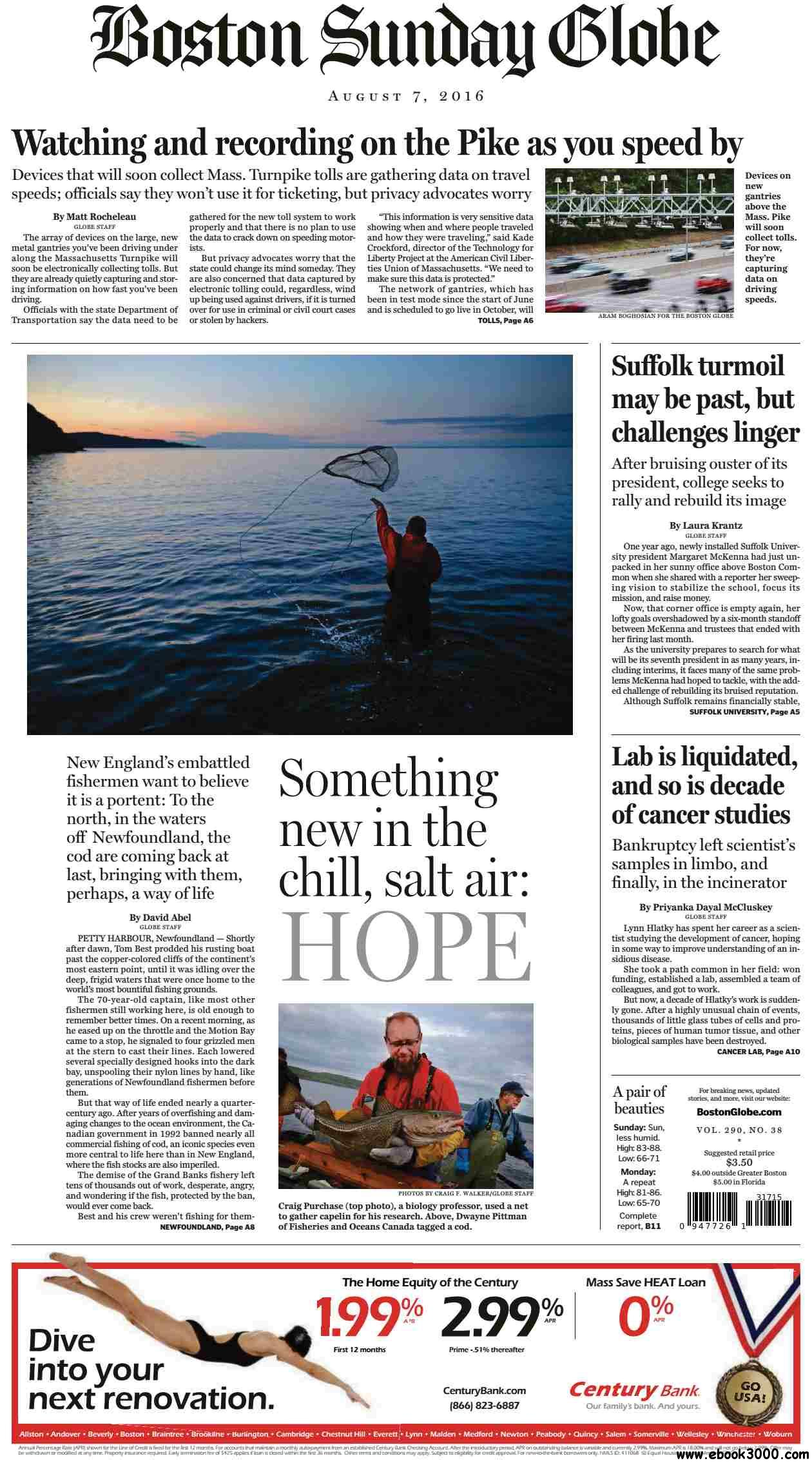 The Boston Globe  August 07 2016