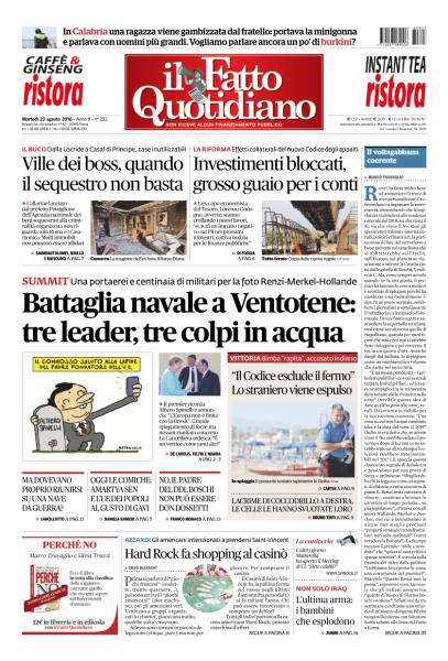 Il Fatto Quotidiano - 23 Agosto 2016