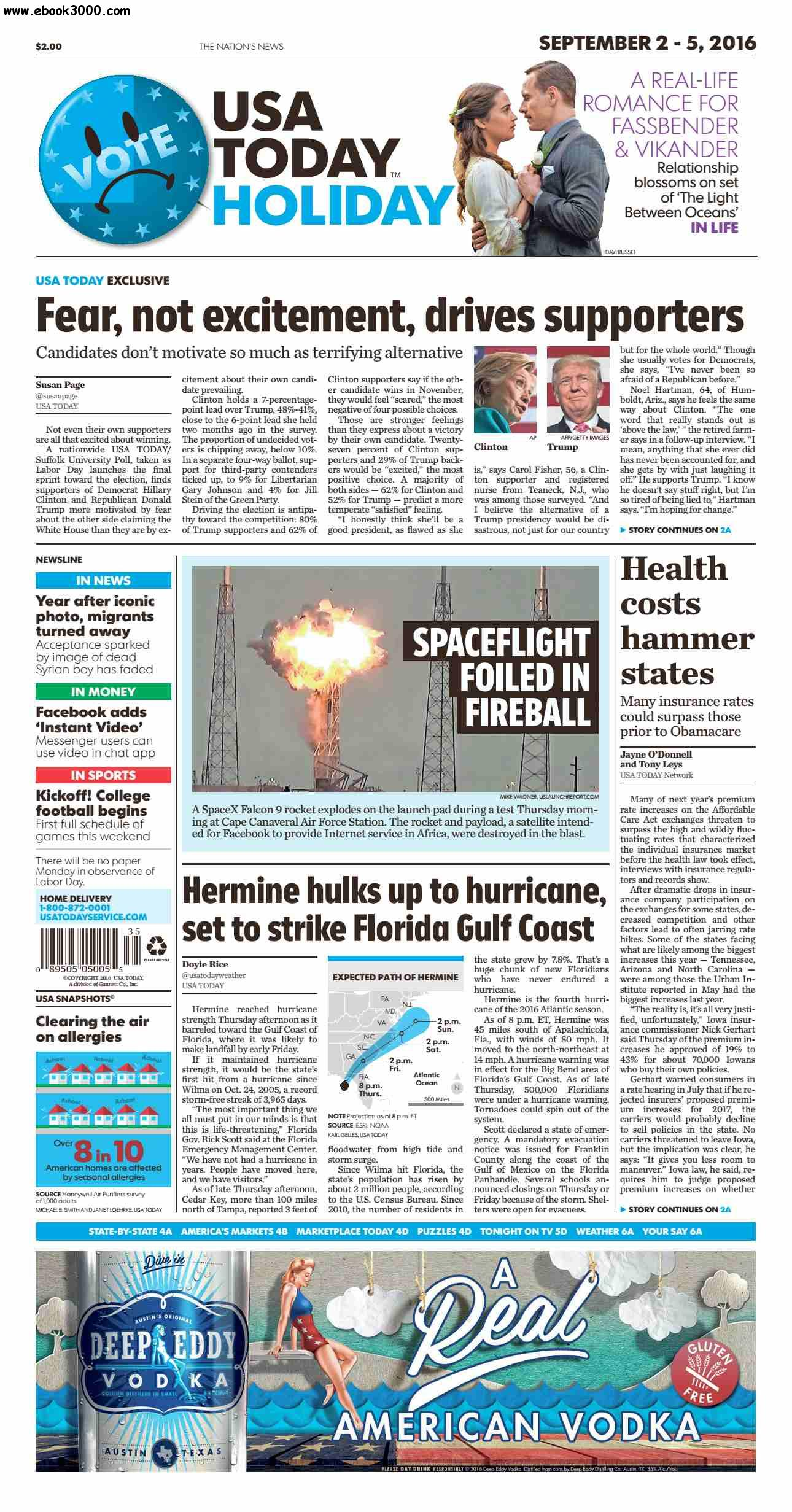 USA Today September 02 2016 - Free eBooks Download: ebook3000.com/USA-Today--September-02-2016_386855.html