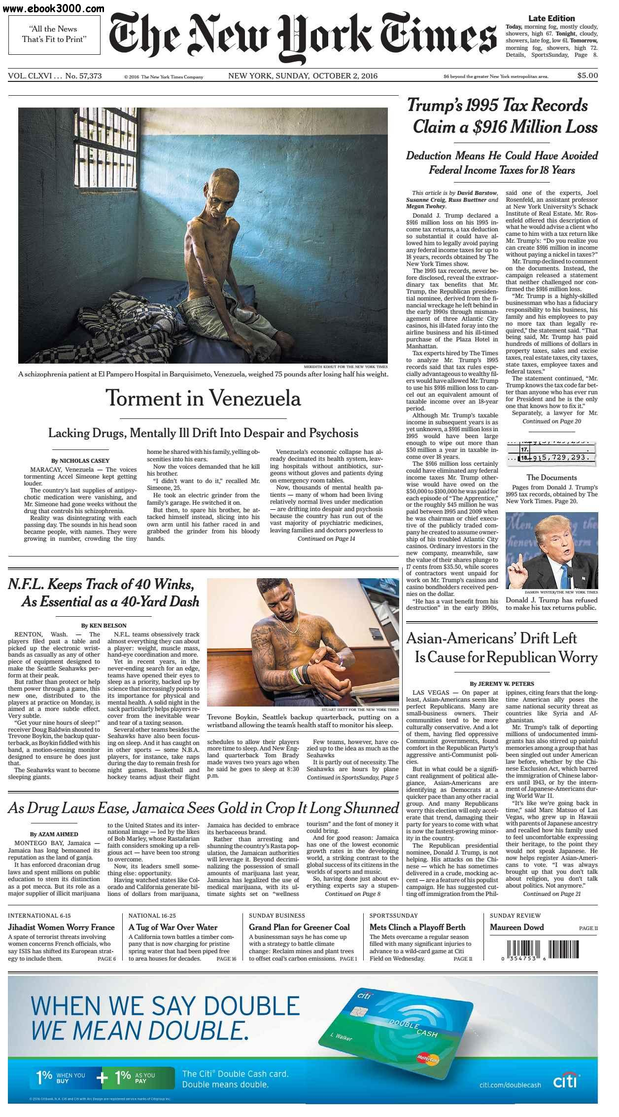 The New York Times  October 02 2016