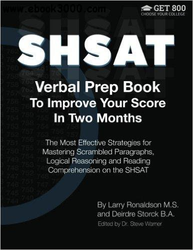 SHSAT Verbal Prep Book To Improve Your Score In Two Months