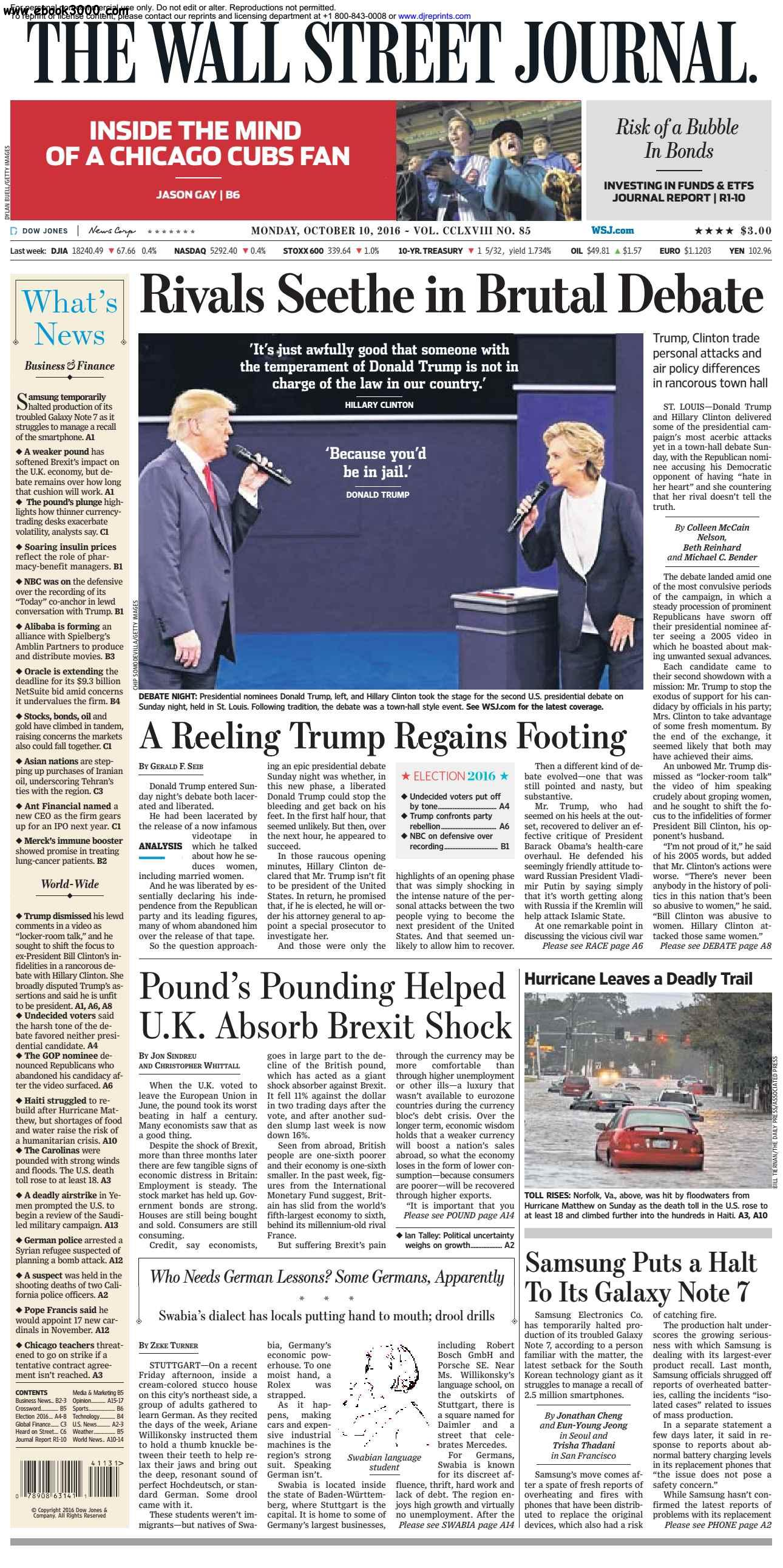The Wall Street Journal  October 10 2016