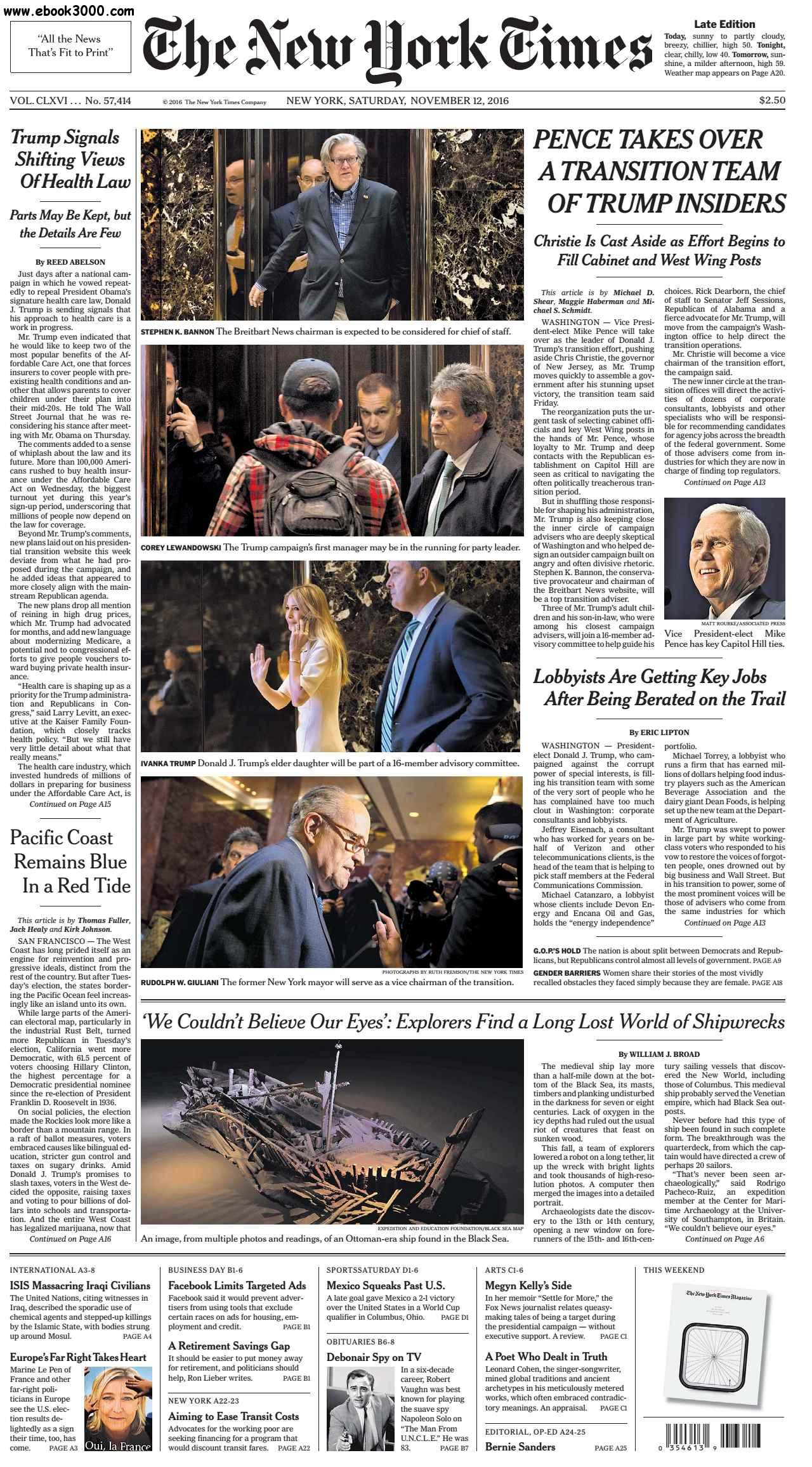 The New York Times  November 12 2016