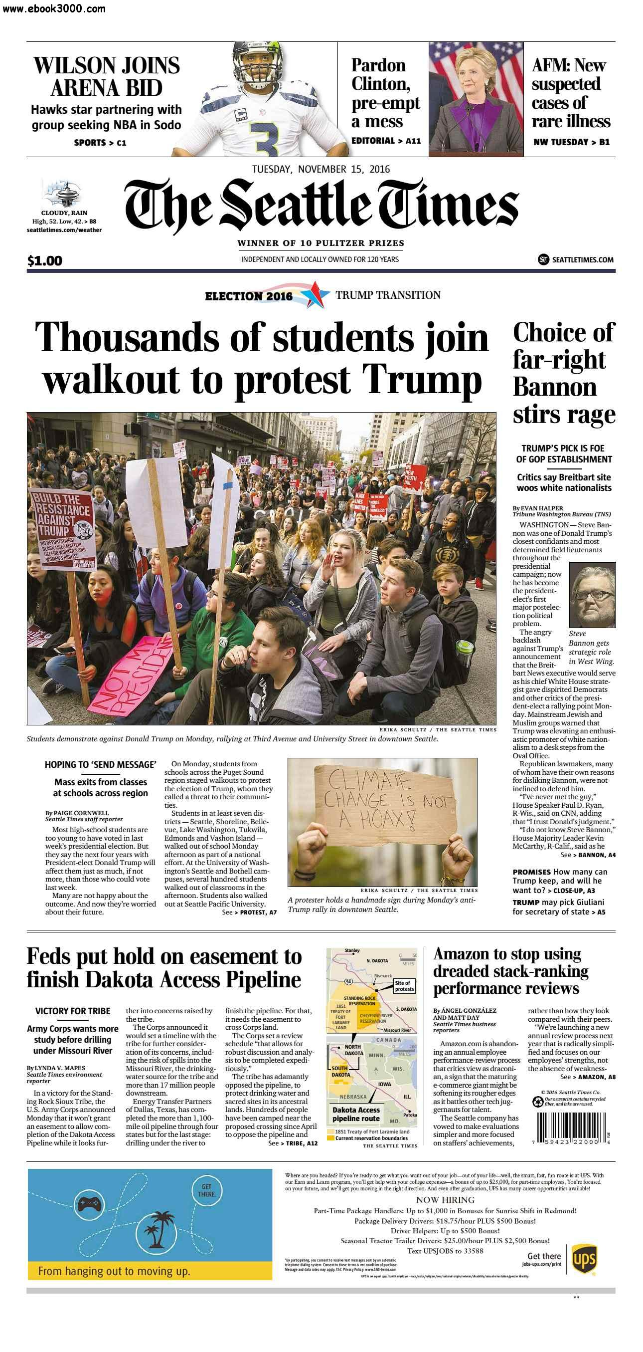 The Seattle Times  November 15 2016