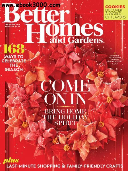 Better Homes And Gardens Usa December 2016 Free Ebooks