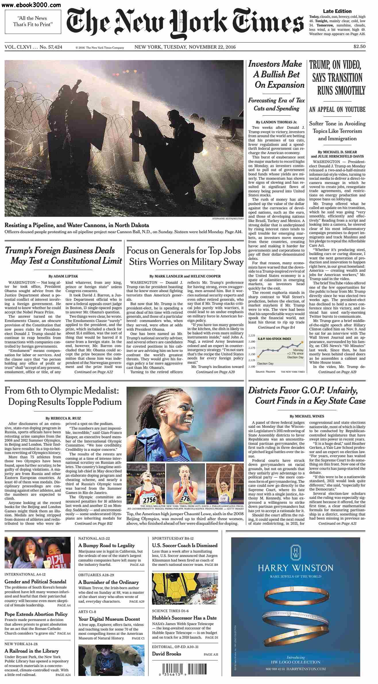 The New York Times  November 22 2016