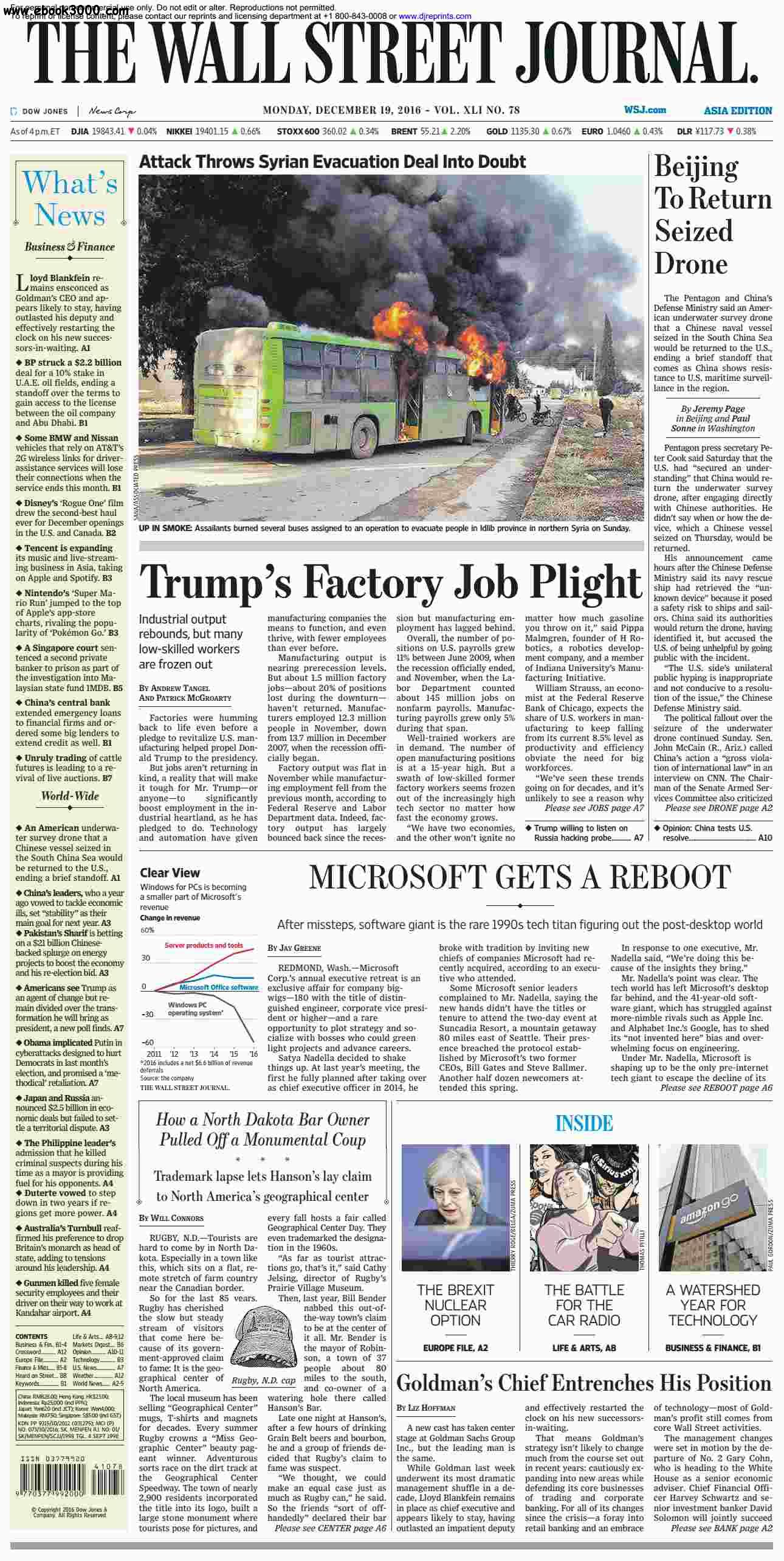 The Wall Street Journal Asia  December 19 2016