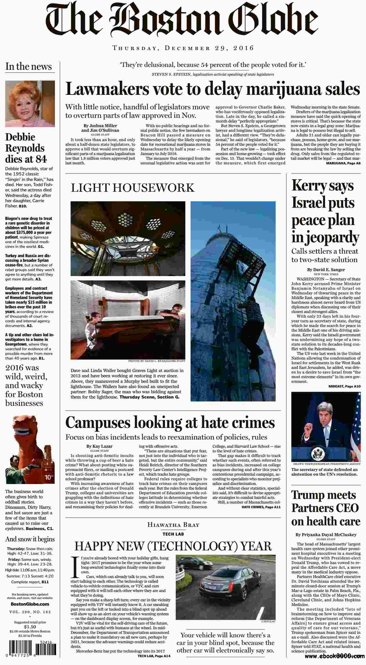 The Boston Globe  December 29 2016