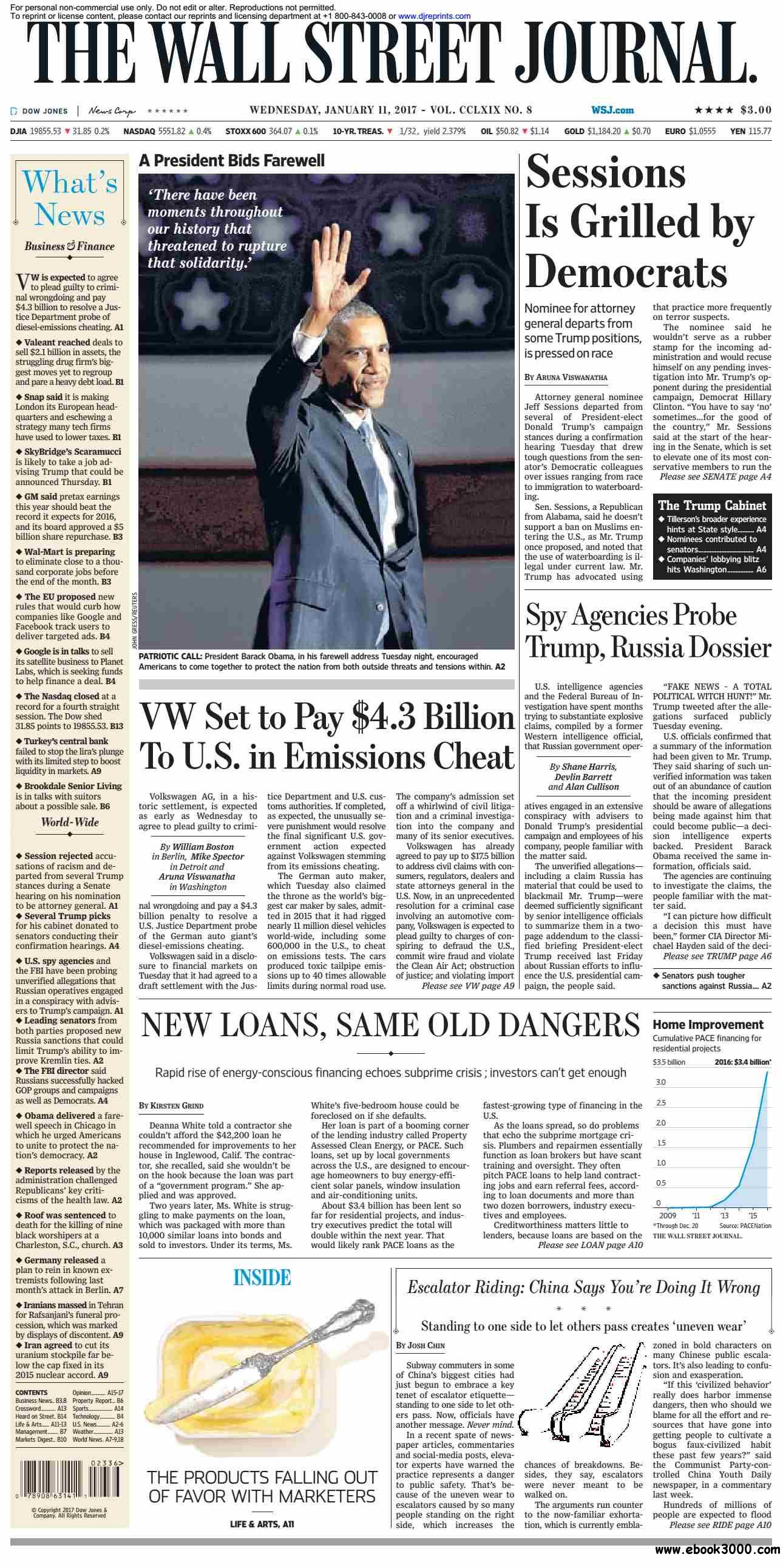 The Wall Street Journal  January 11 2017