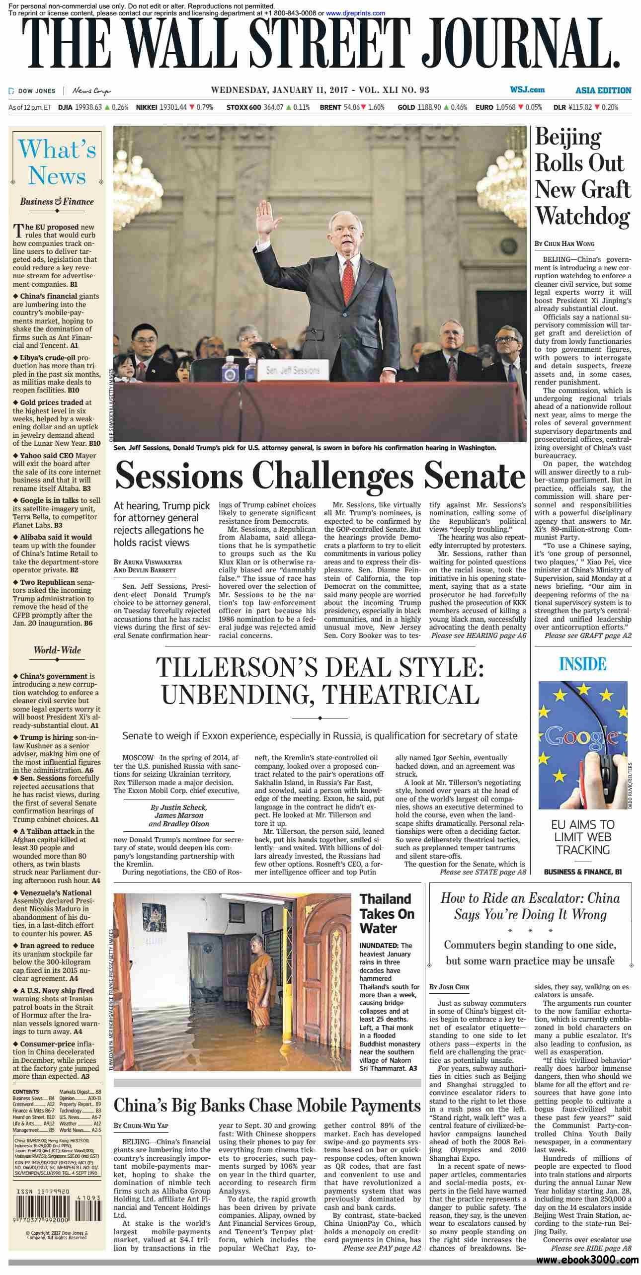 The Wall Street Journal Asia  January 11 2017