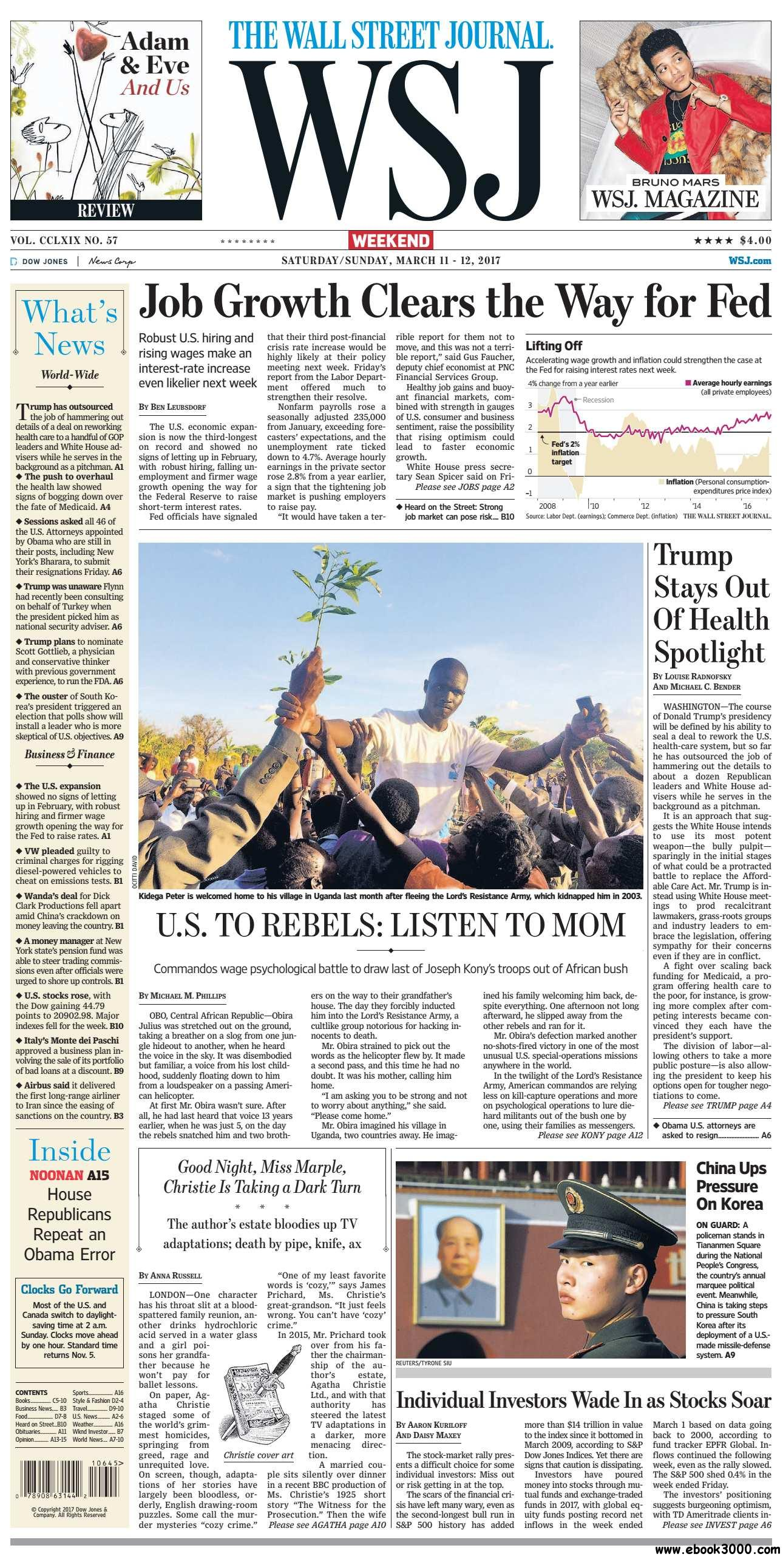 The Wall Street Journal  March 11 2017