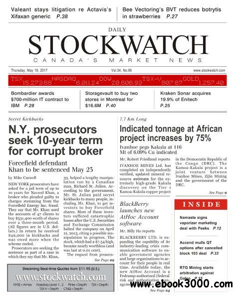 Stockwatch Daily - May 18, 2017