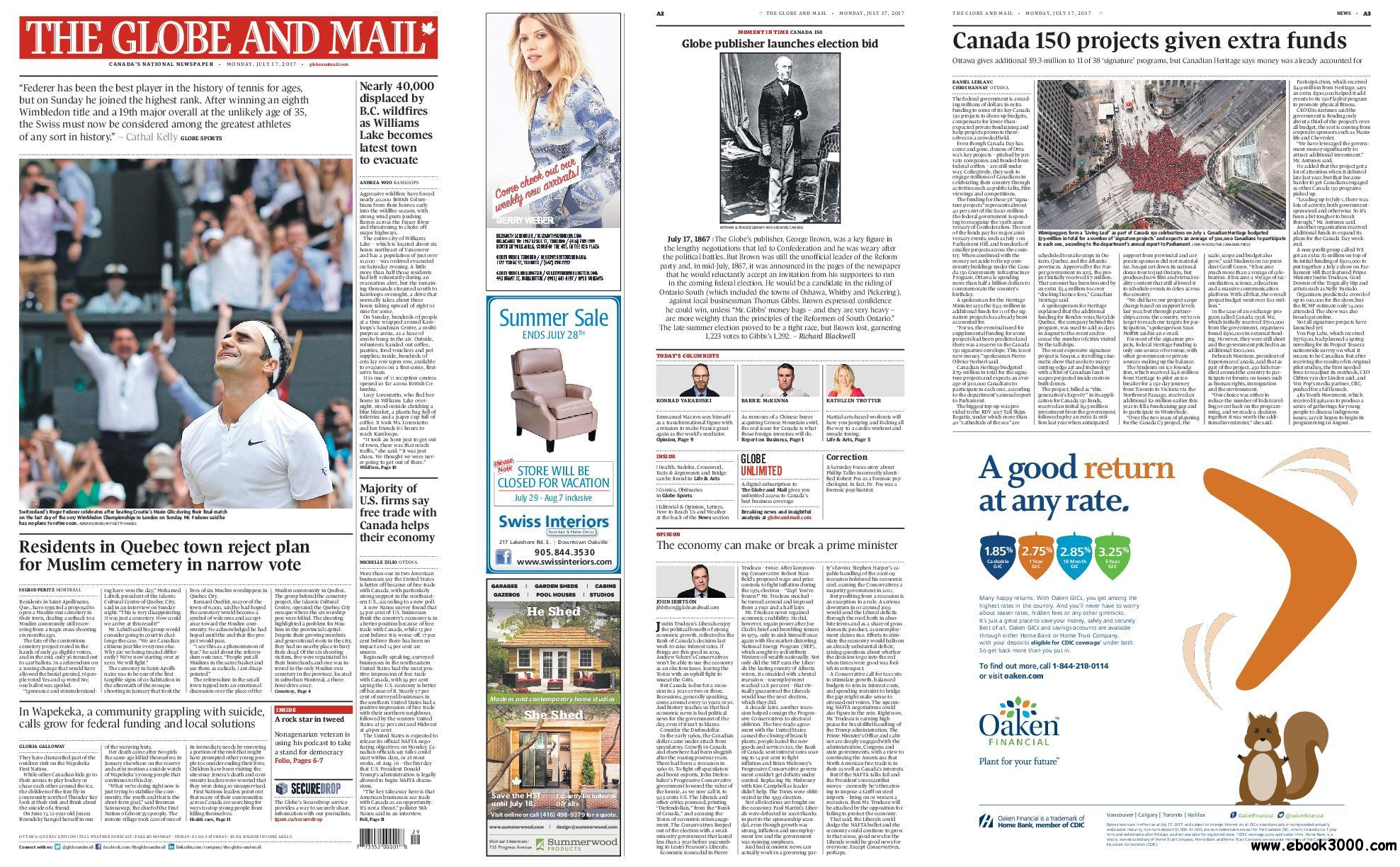 The Globe and Mail - July 17, 2017