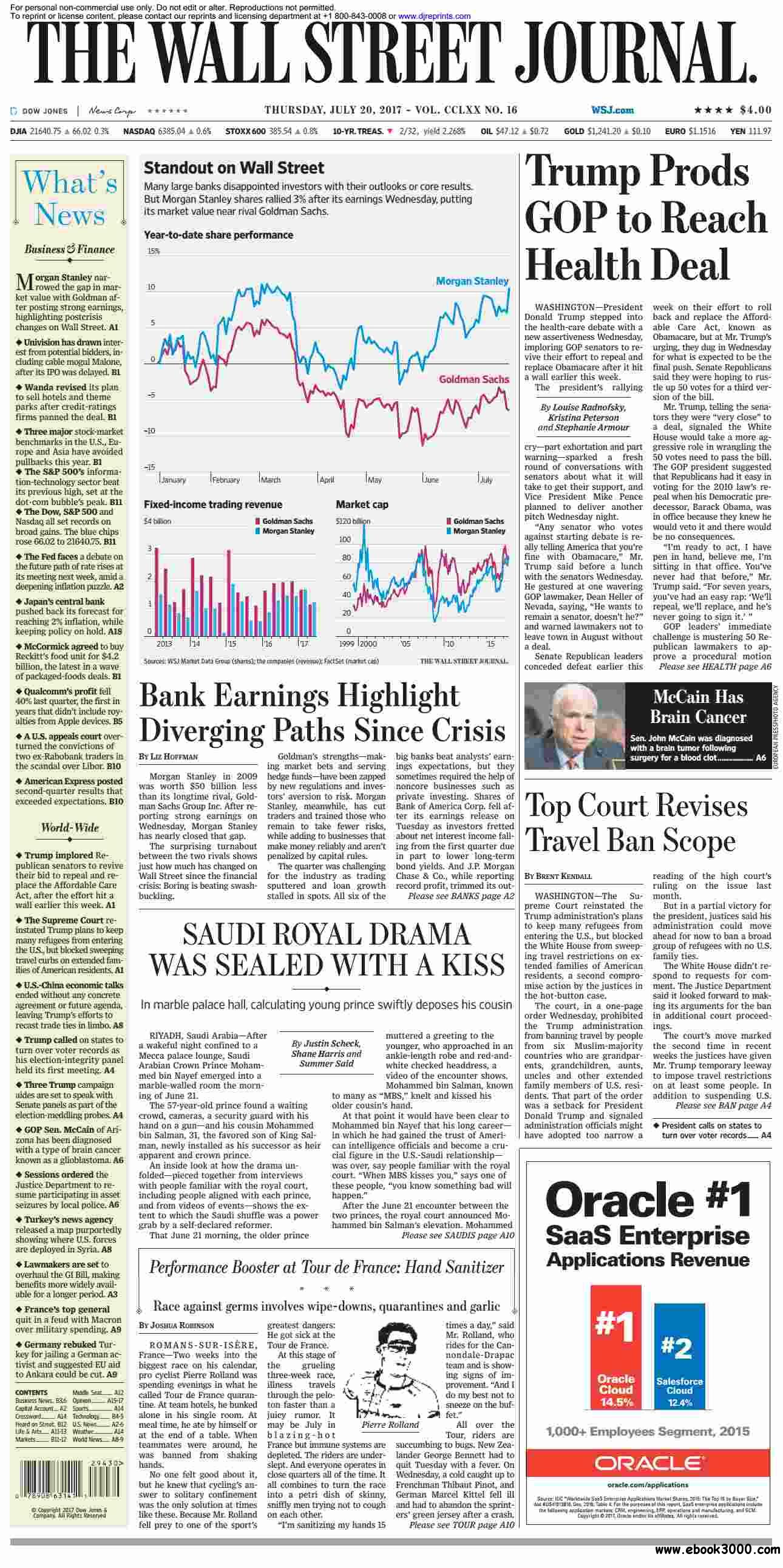 The Wall Street Journal  July 20 2017