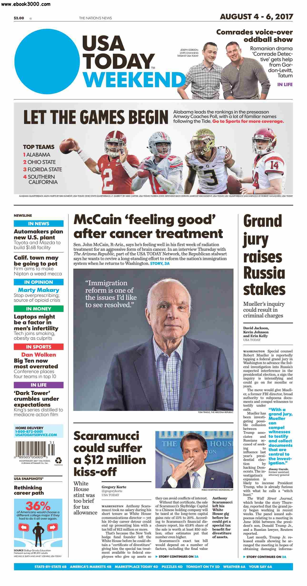 USA Today  August 04 2017