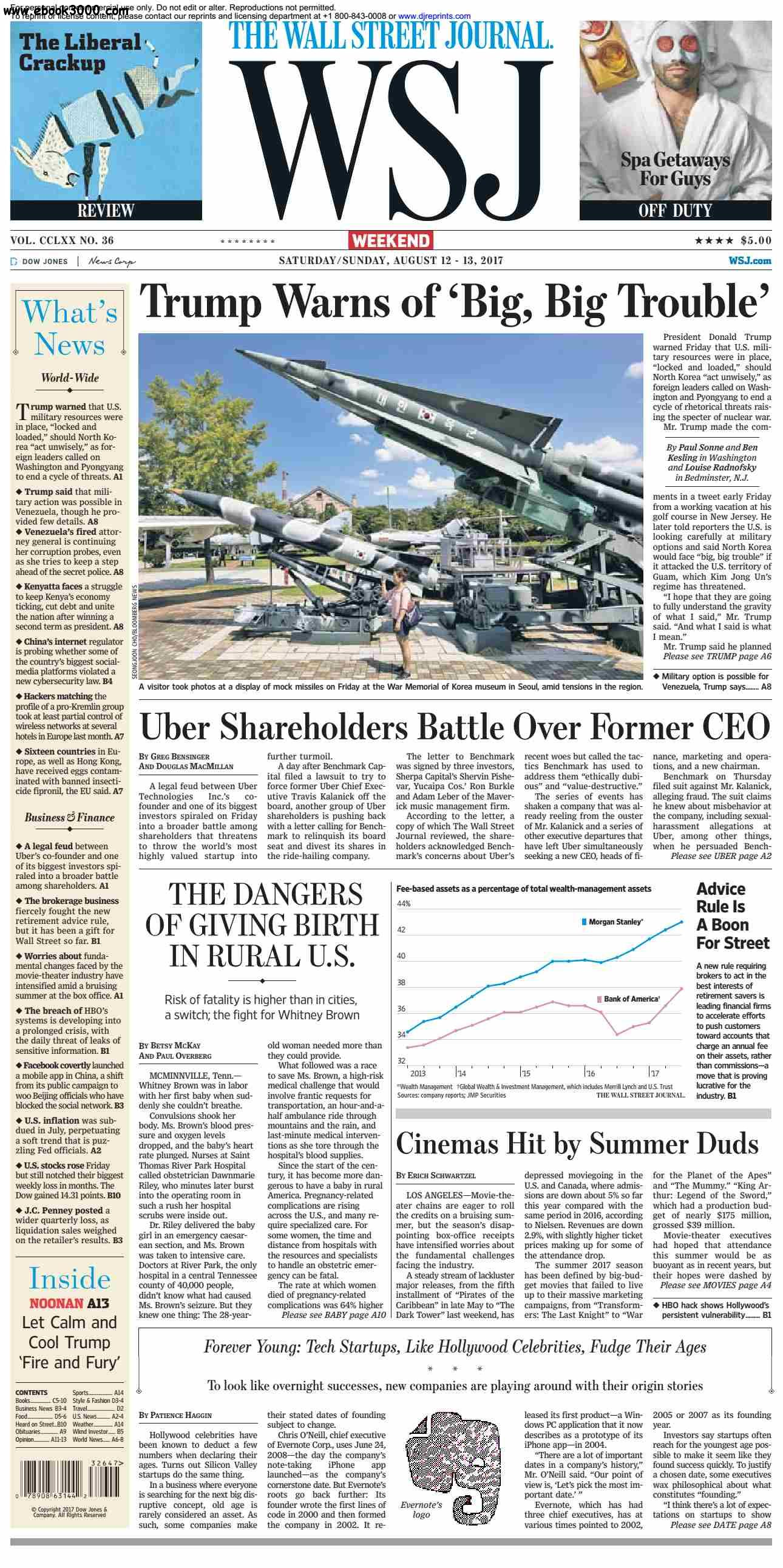 The Wall Street Journal  August 12 2017