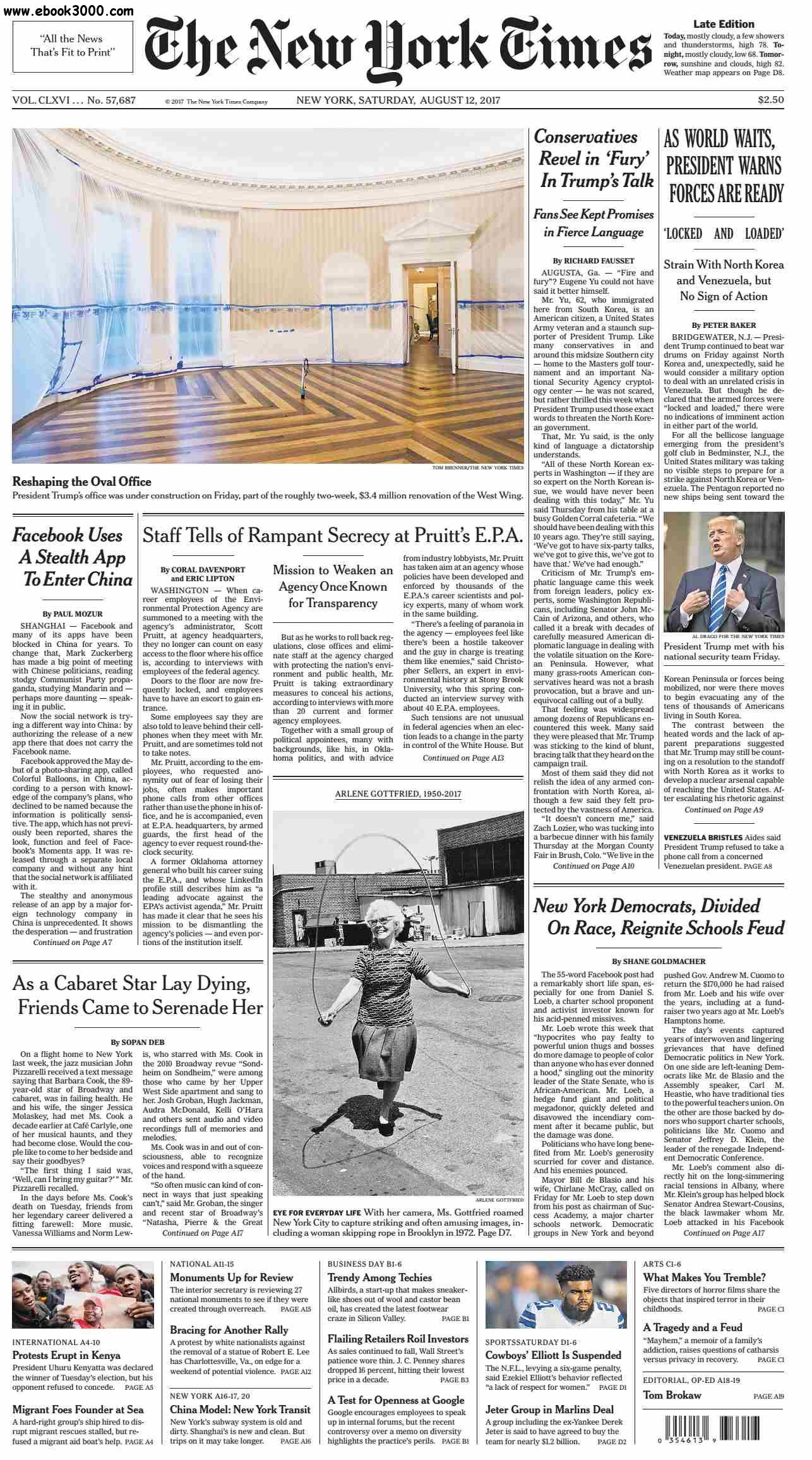 The New York Times  August 12 2017