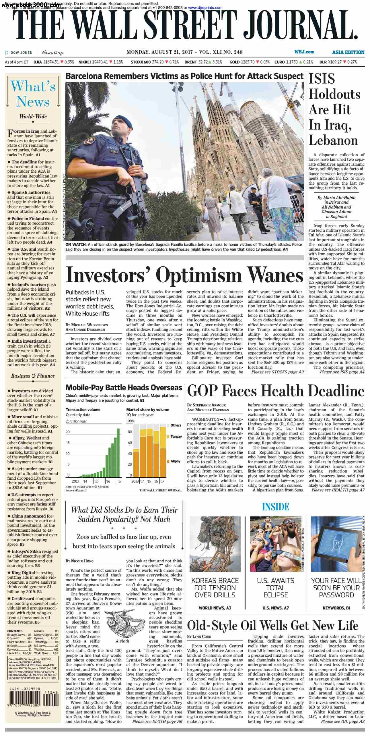 The Wall Street Journal Asia  August 21 2017
