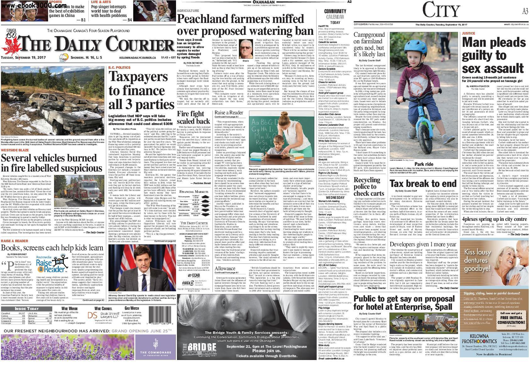 Kelowna Daily Courier - September 19, 2017