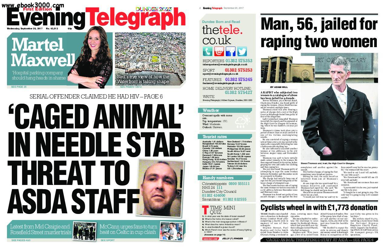 Evening Telegraph First Edition - September 20, 2017