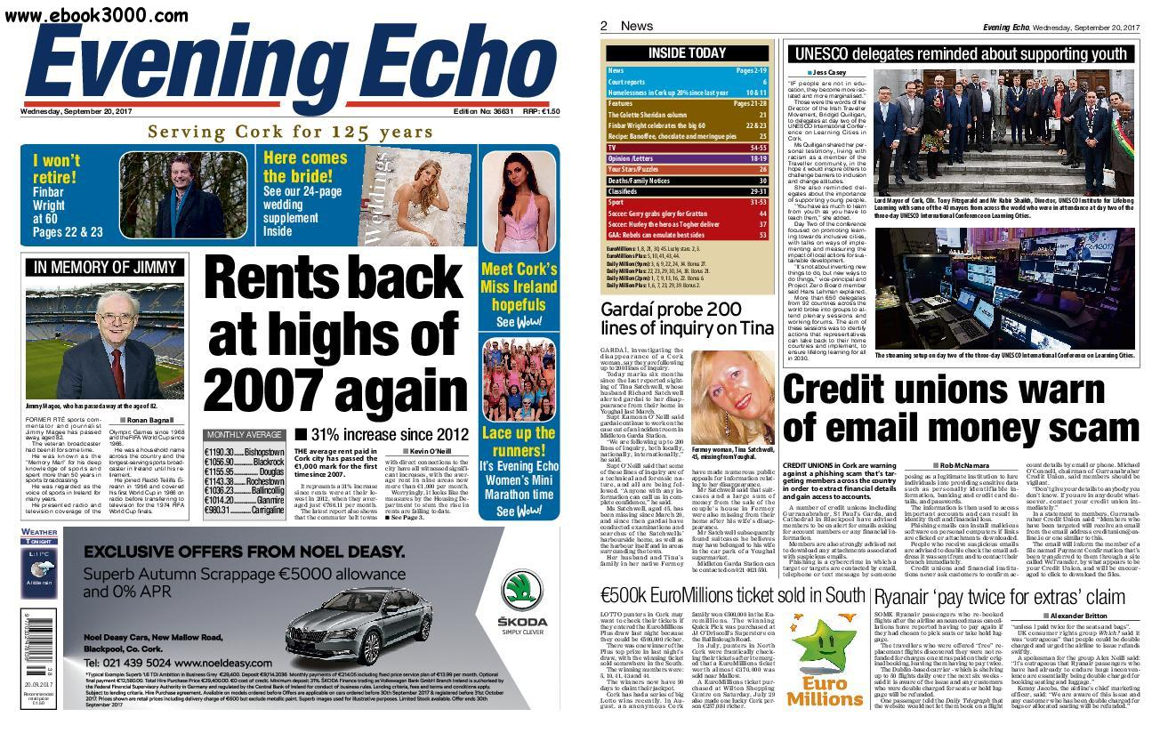 Evening Echo - September 20, 2017
