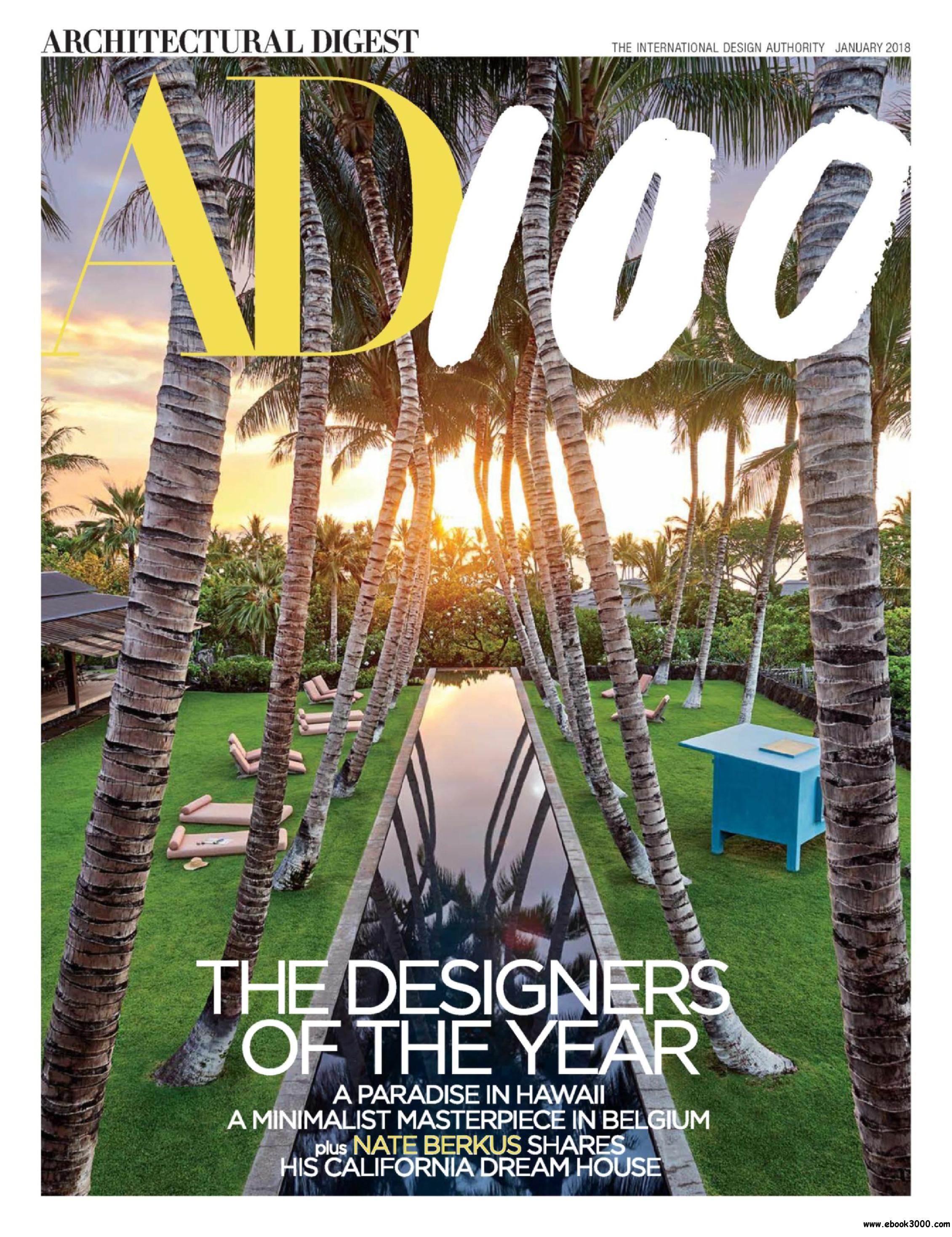 Architectural digest usa january 2018 free ebooks download for Free architectural magazines